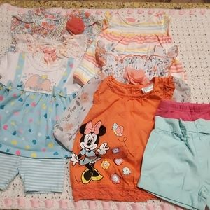 Other - BUNDLED baby girl summer clothes.  Sz 3-6 mo